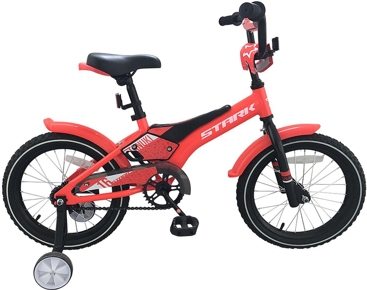 Велосипед детский Stark'19 Tanuki Boy, красный, черный, белый, диаметр колес 16
