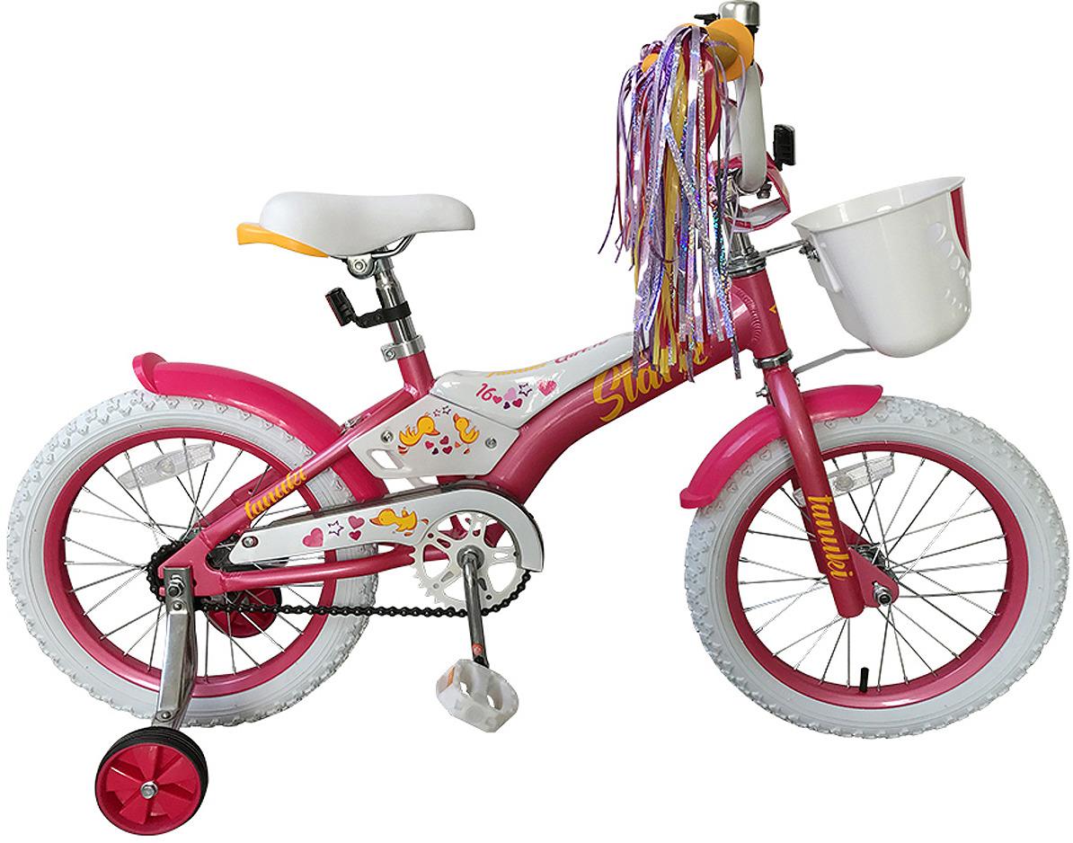 Велосипед детский Stark'19 Tanuki Girl, розовый, белый, диаметр колес 16