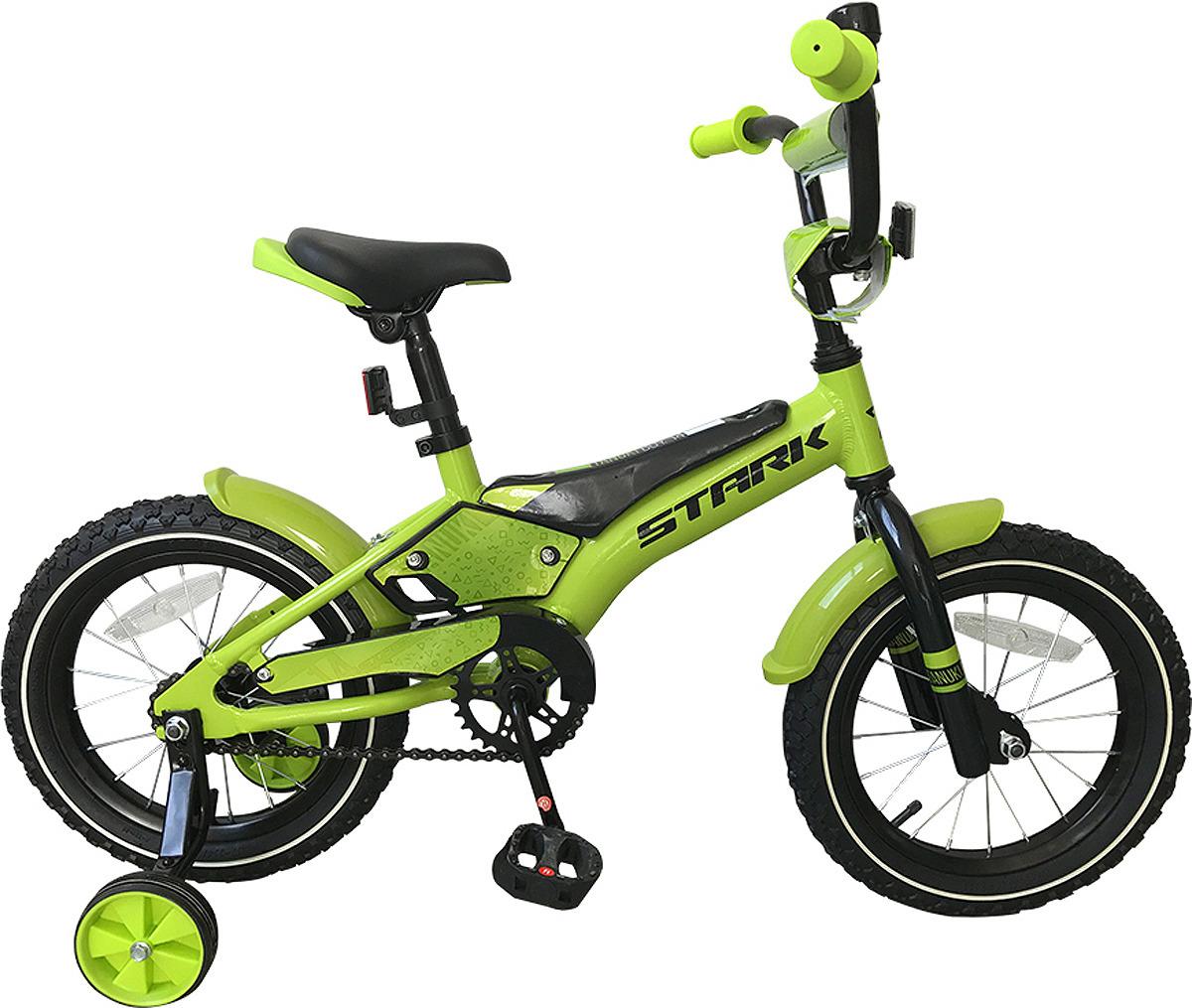 цена на Велосипед детский Stark'19 Tanuki Boy, зеленый, черный, диаметр колес 14, размер рамы