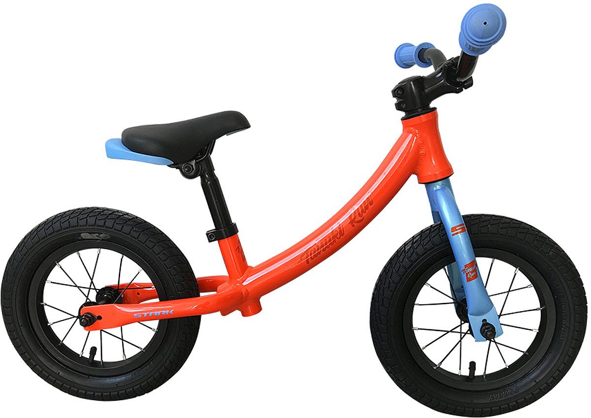 Велосипед беговел Stark'19 Tanuki Run, оранжевый, голубой, диаметр колес 12