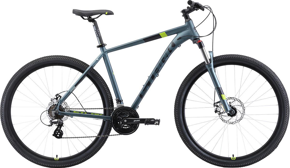 Велосипед кросс-кантри Stark'19 Router D, серый, черный, зеленый, диаметр колес 29, размер рамы 20 велосипед stark router 27 3 d 2019