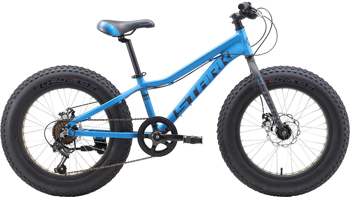 Велосипед кросс-кантри Stark'19 Rocket Fat D, голубой, черный, серый, диаметр колес 20