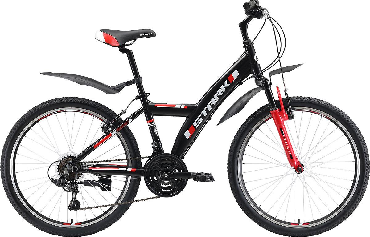 Велосипед кросс-кантри Stark'19 Rocket Y V, черный, красный, диаметр колес 24