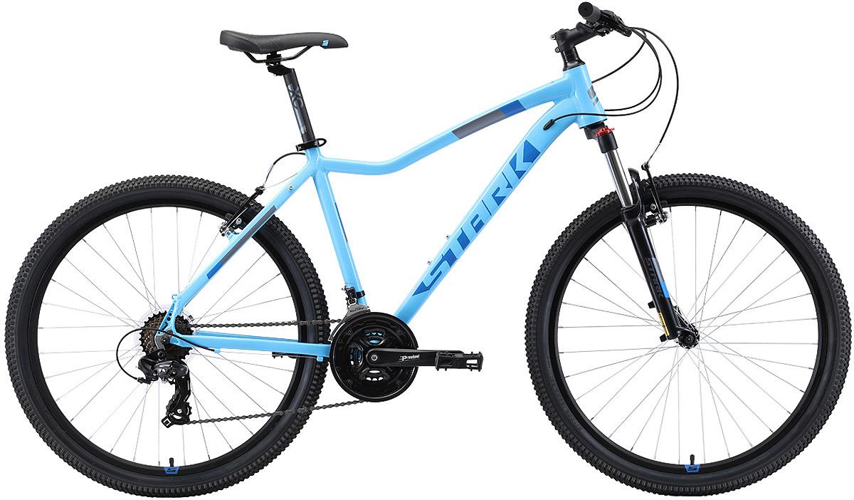 Велосипед женский Stark'19 Viva V, голубой, бирюзовый, диаметр колес 26, размер рамы 18