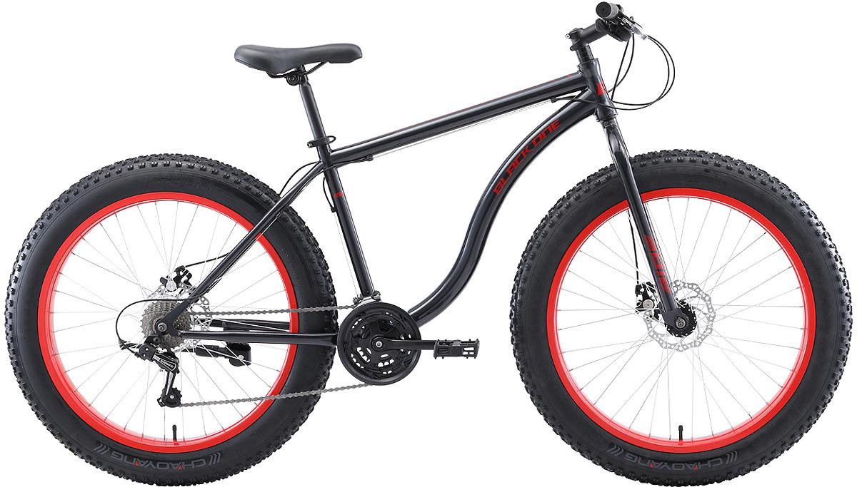 Велосипед горный (MTB) Black One Monster D, серый, красный, диаметр колес 26, размер рамы 18