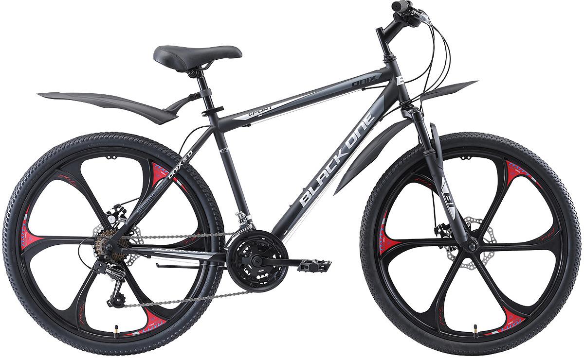 Велосипед горный (MTB) Black One Onix Active D FW, черный, серый, серебристый, диаметр колес 26, размер рамы 18