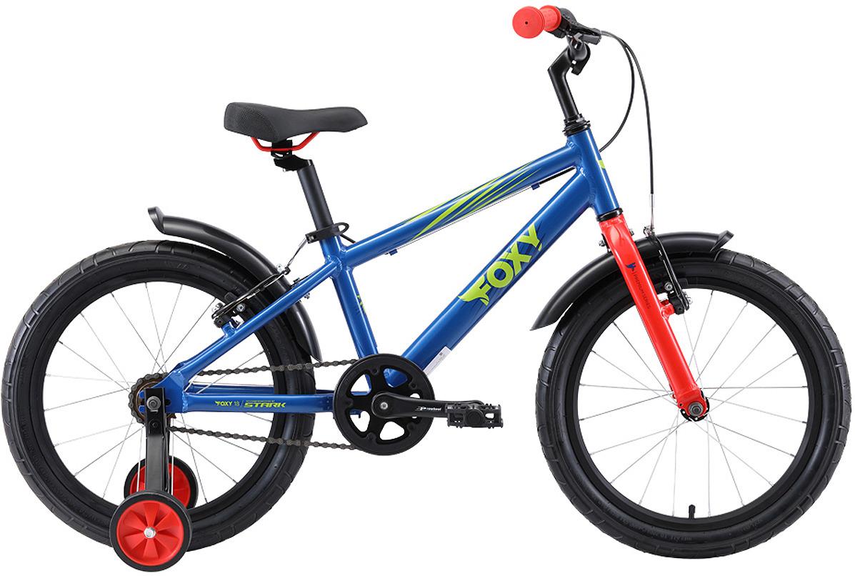 Велосипед детский Stark'19 Foxy, синий, зеленый, красный, диаметр колес 18, размер рамы цена