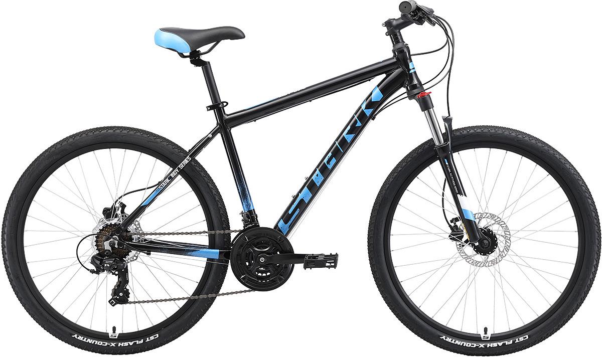 Велосипед кросс-кантри Stark'19 Indy HD, черный, синий, голубой, диаметр колес 26, размер рамы 18