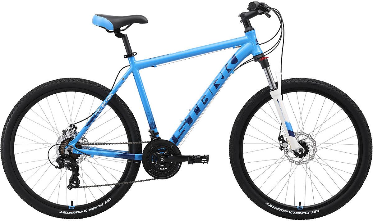 Велосипед кросс-кантри Stark'19 Indy D, голубой, синий, белый, диаметр колес 26, размер рамы 20