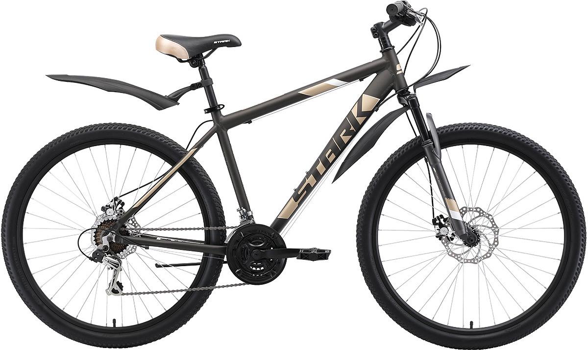 Велосипед кросс-кантри Stark'19 Tank D, коричневый, кремовый, белый, диаметр колес 27.5, размер рамы 18 велосипед stark tank 27 1 d 2019