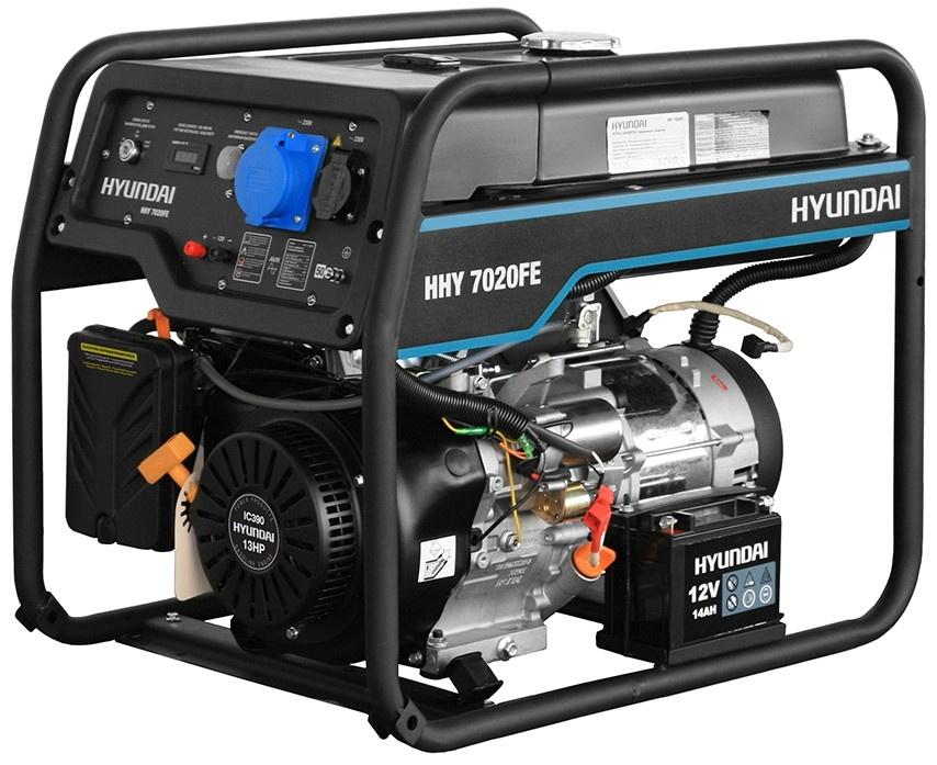 Генератор HYUNDAI HHY 7020FE генератор бензиновый hyundai hhy 9000fe ats колеса