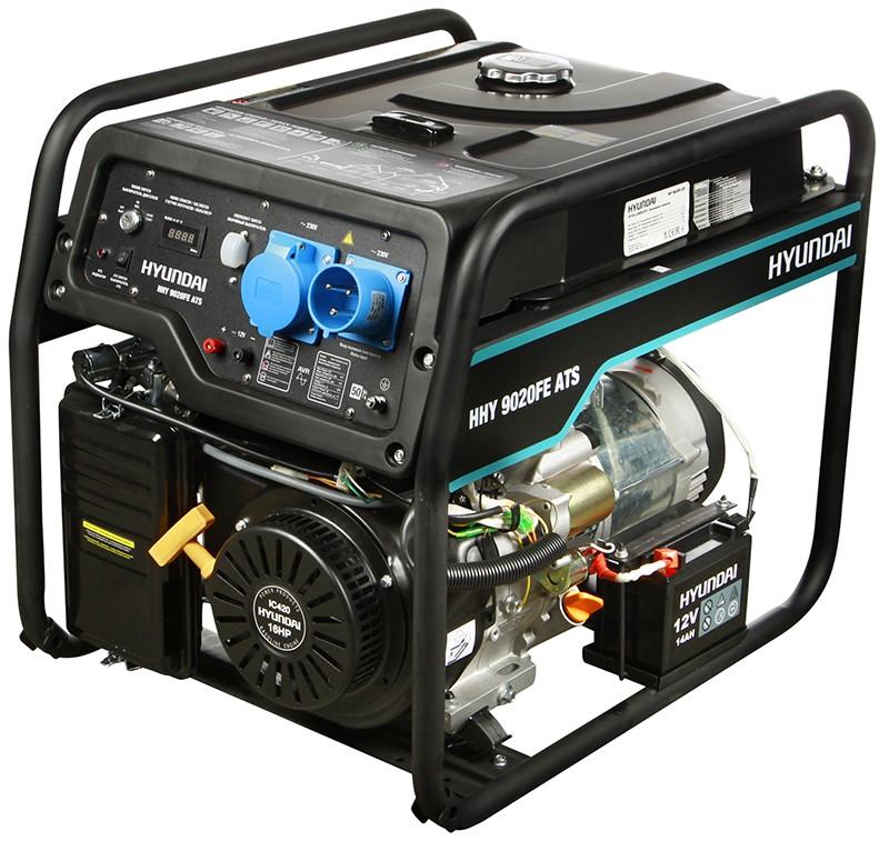 Генератор HYUNDAI HHY 9020FE ATS генератор бензиновый hyundai hhy 9000fe ats колеса