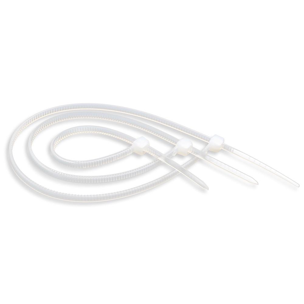 Держатель для кабеля ATcom Nylon 2.5*250 mm (100 шт.), AT9176, белый хомут nylon 250 x 3 5 мм 100 шт белый профессиональный