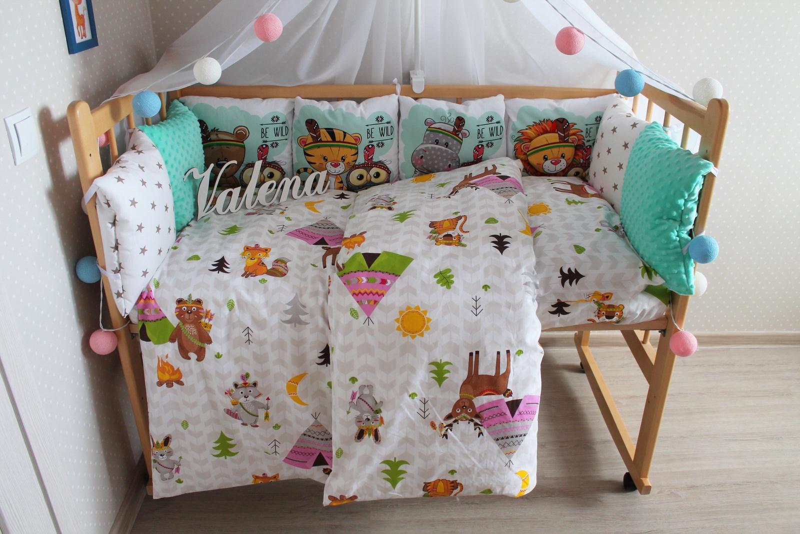 Комплект в кроватку Valena Индейцы, зеленый