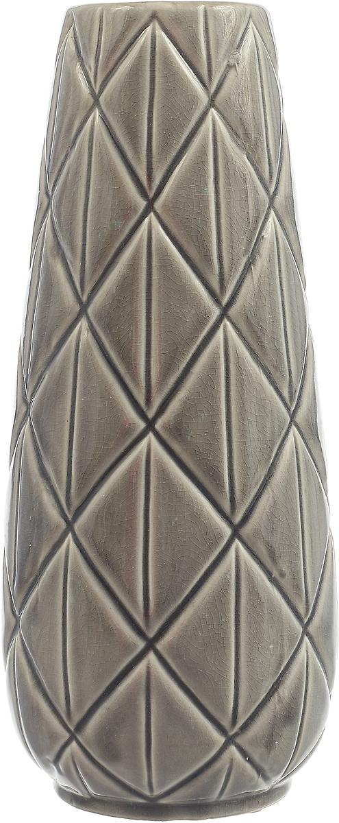 Ваза Lefard, 112-474, серый, 14 х 14 х 32.5 см