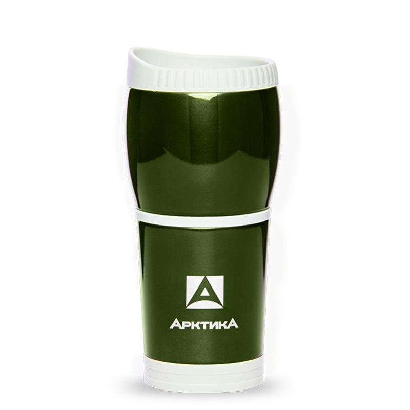 Термокружка Арктика 807-400, зеленый термокружка автомобильная арктика цвет красный 400 мл 807 400