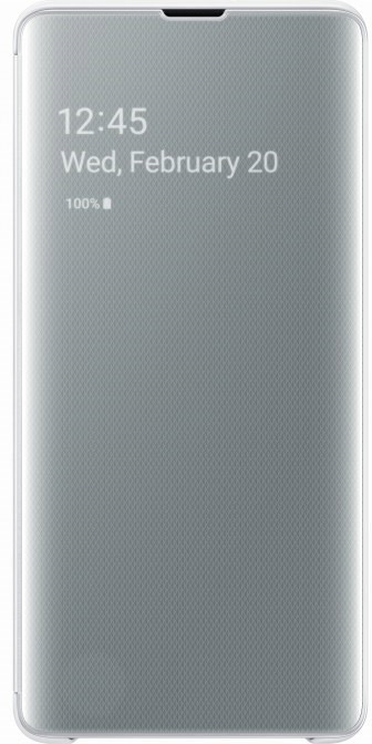Чехол Samsung Clear View Cover для Galaxy S10+, белый