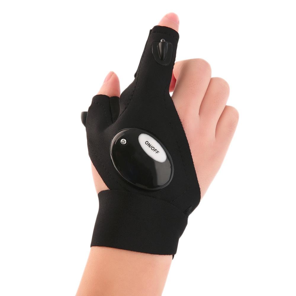 Ручной фонарь MARKETHOT перчатка фонарик, черный