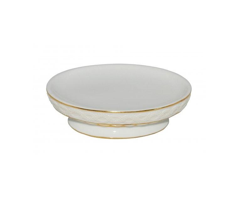 Мыльница Vanstore 382-04, белый, слоновая кость, золотой мыльница vanstore корона