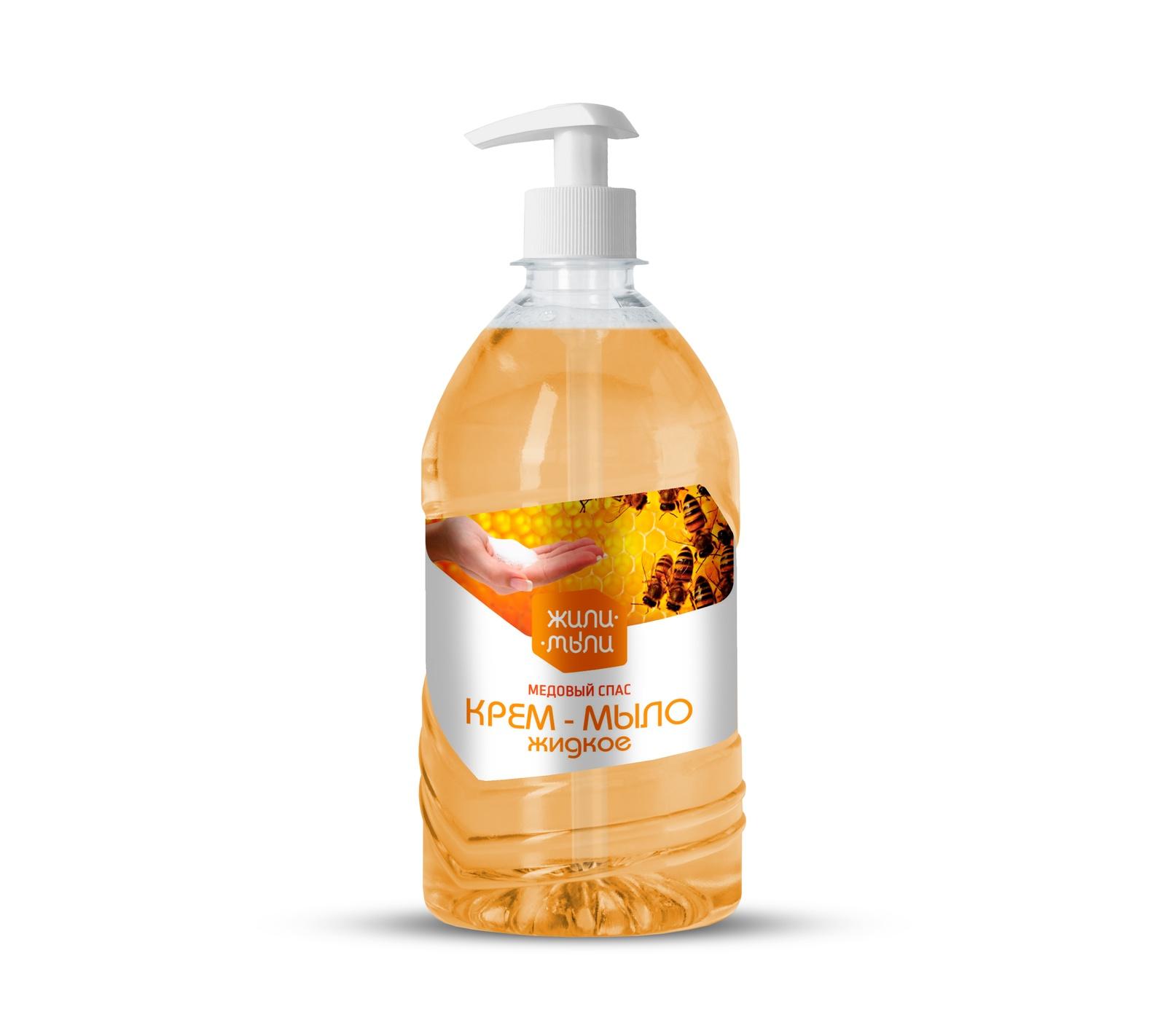 Жидкое мыло Жили-Мыли Медовый спас мыло с колд кремом авен