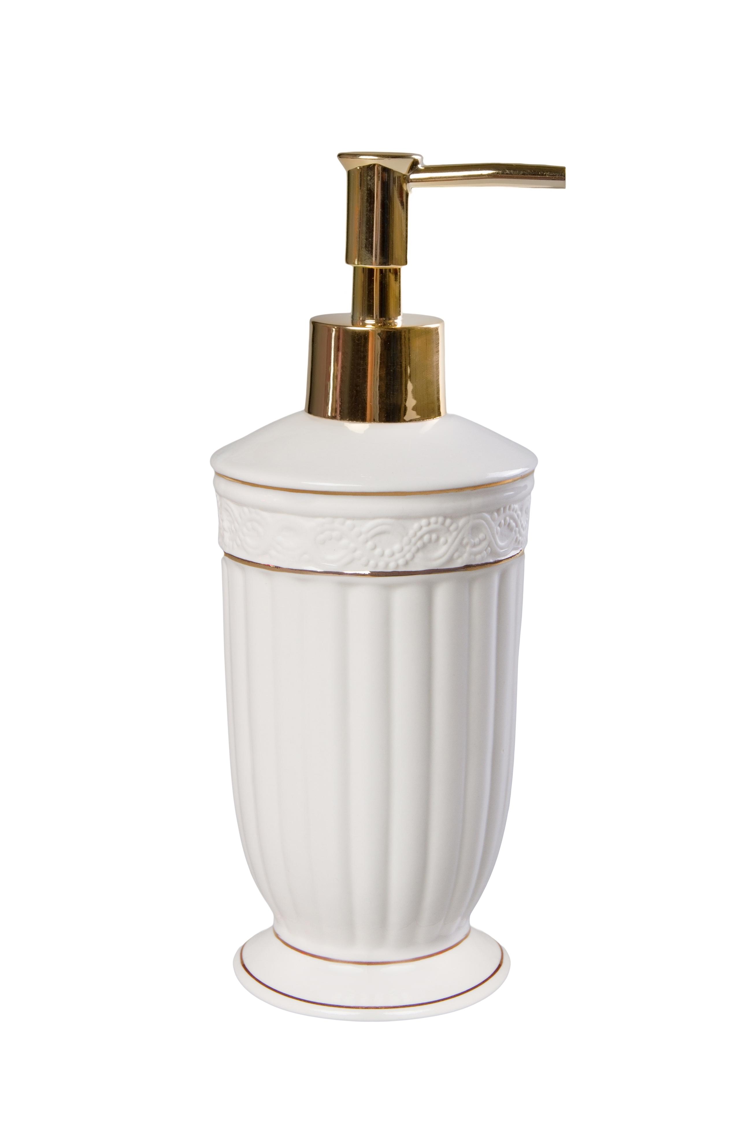 Дозатор для мыла Vanstore Дозатор для жидкого мыла, белый, золотой дозатор для жидкого мыла vanstore wiki white цвет белый 300 мл