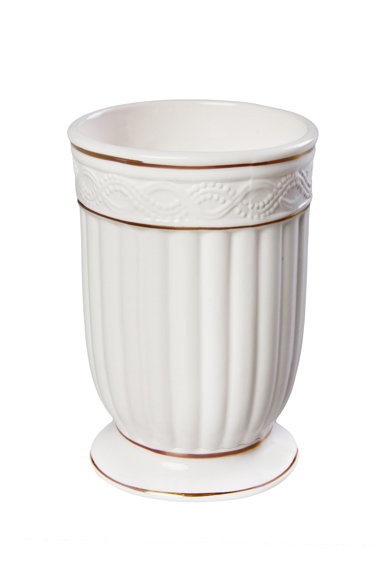 Стакан для ванной комнаты Vanstore Стакан для ванной, белый, золотой стакан для ванной комнаты vanstore wiki бирюзовый