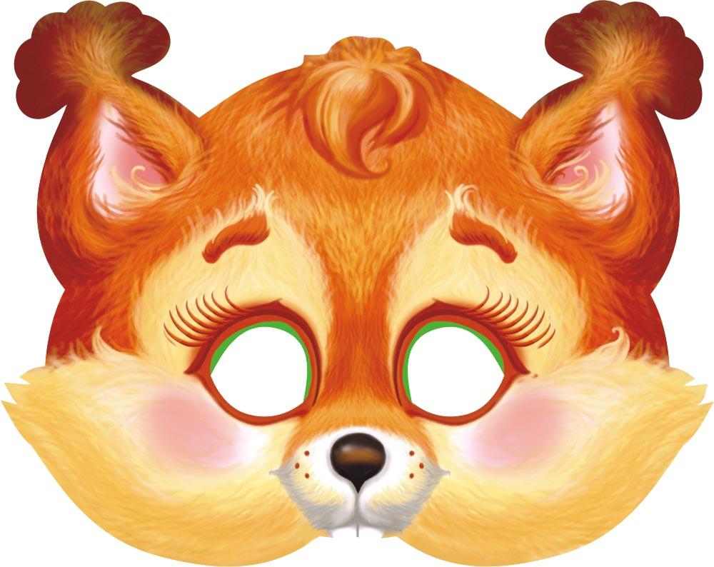 Картинки маски зверей для детей