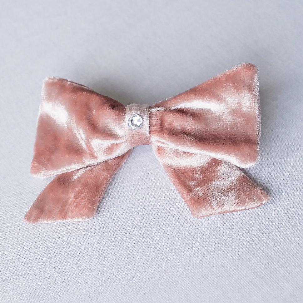Заколка для волос Trendyco kids Заколка Арабель большая бархатная, пудровая, розовый заколка hairagami хеагами одинарная цвет черный розовый
