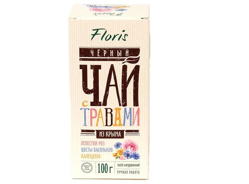 Черный чай Floris с розой,васильком и календулой, 100г floris набор конструктор чайный мастер черный чай с травами