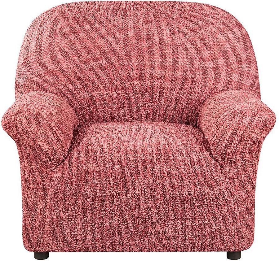Чехол на кресло Еврочехол Виста Милано, 6/185-1, бордовый, ширина 100 см