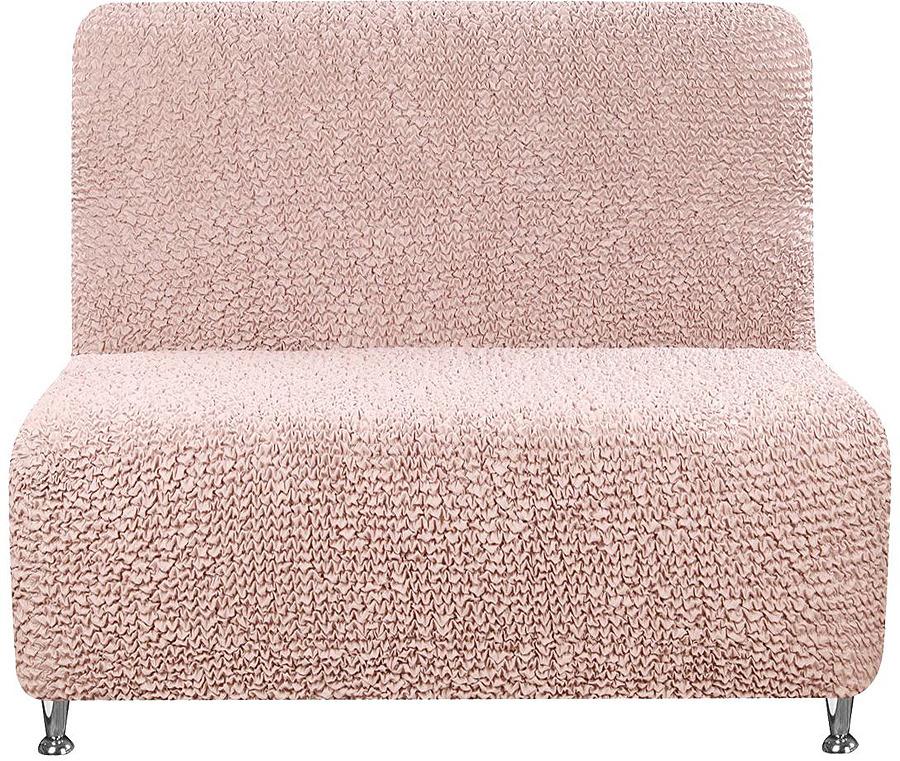 Чехол на кресло без подлокотников Еврочехол Микрофибра, 3/192-5, светло-розовый, ширина 100 см mantra 4638