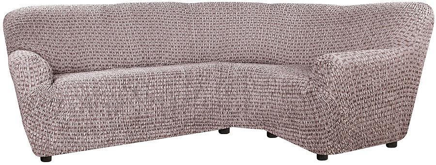 Чехол на классический угловой диван Еврочехол Сиена Сатурно, 34/197-8, коричневый, ширина 530 см