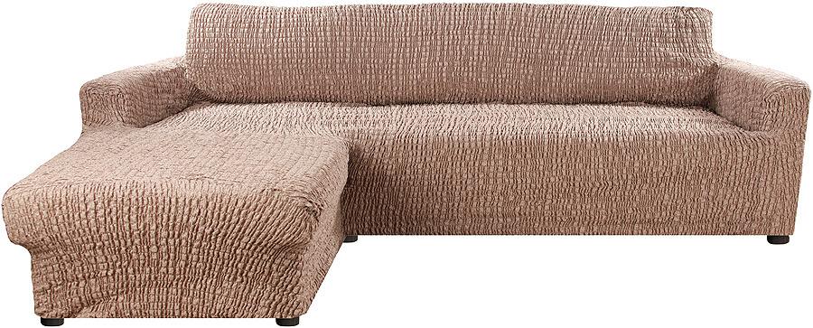 Чехол на угловой диван с выступом слева Еврочехол Сиена Венера, 34/200-9, коричневый, ширина 450 см just cavalli beachwear бикини