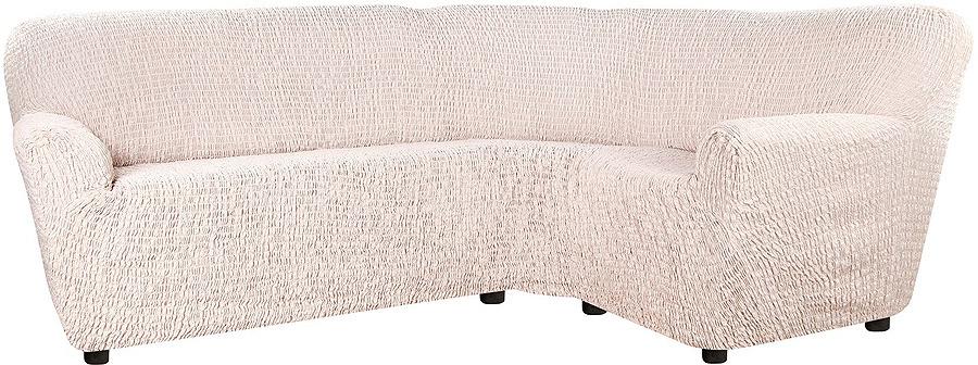 Чехол на классический угловой диван Еврочехол Сиена Венера, 34/201-8, бежевый, ширина 530 см