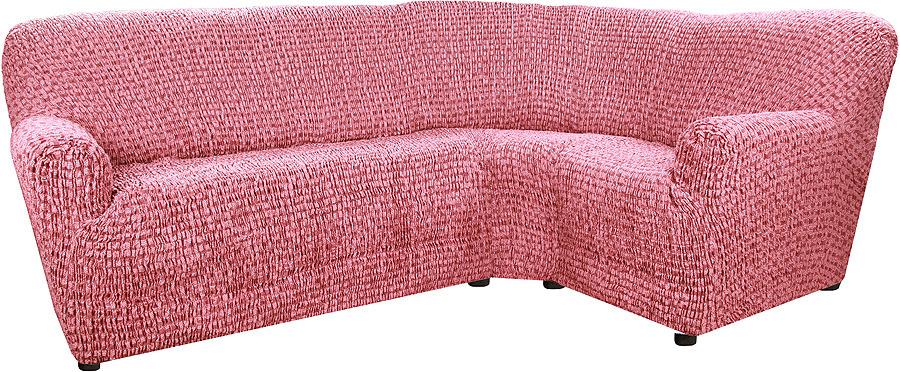 Чехол на классический угловой диван Еврочехол Сиена Сатурно, 34/199-8, бордовый, ширина 530 см