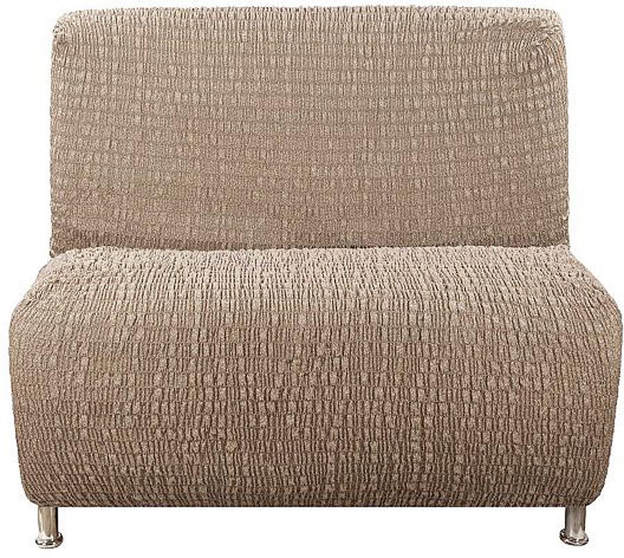 Чехол на кресло без подлокотников Еврочехол Сиена Венера, 34/200-5, коричневый, ширина 100 см
