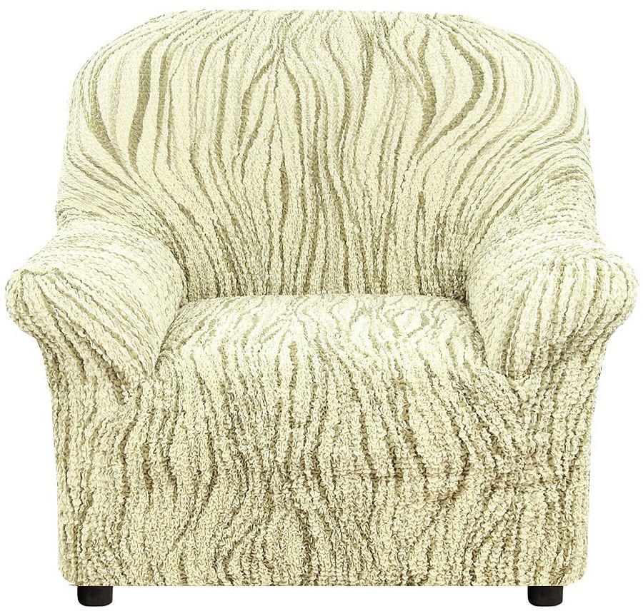 Чехол на кресло Еврочехол Виста Элегант, 6/229-1, зеленый, ширина 100 см