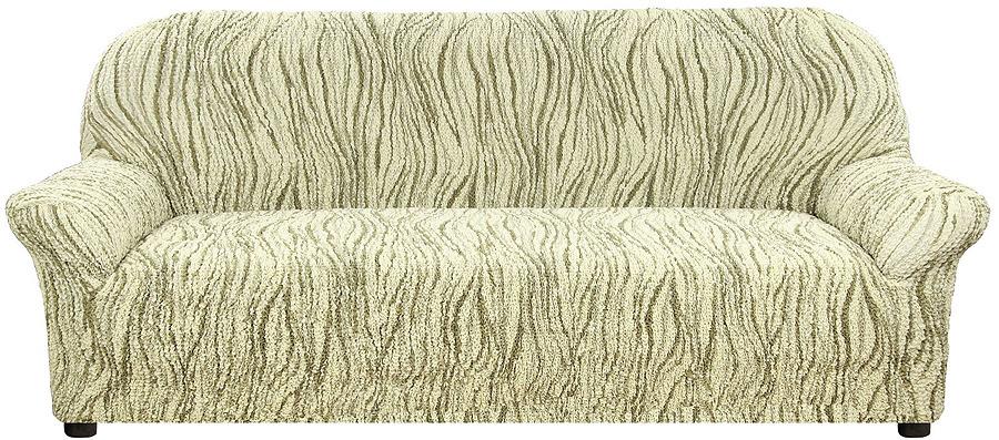 Чехол на 3-местный диван Еврочехол Виста Элегант, 6/229-3, зеленый, ширина 240 см