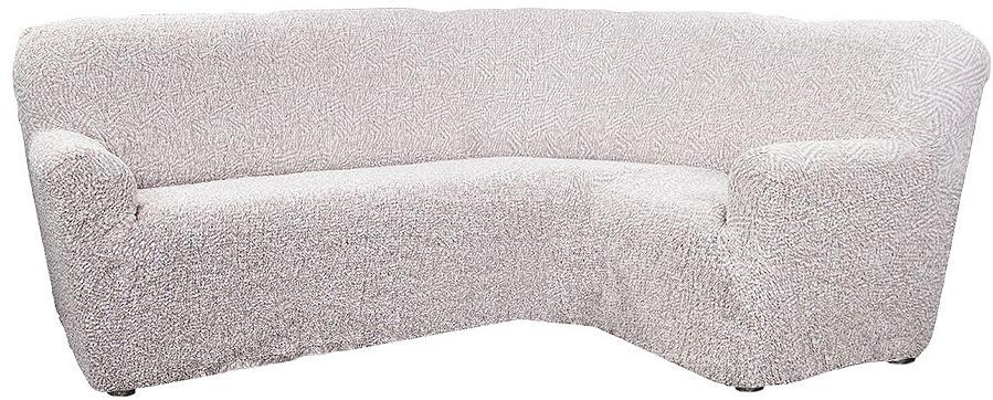 Чехол на классический угловой диван Еврочехол Виста Меандр, 6/147-8, бежевый, ширина 550 см цена