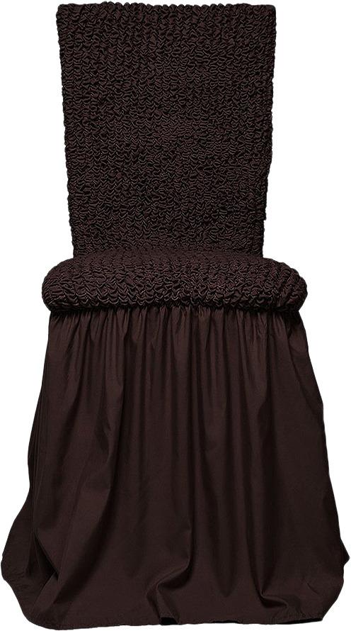 Чехол с юбкой на стул Еврочехол Микрофибра, цвет: черный шоколад, 40-60 см аксессуар фильтр для omron cx cx2 cx3 cxpro c30 c24 c24 kids c20