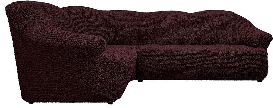 Чехол на классический угловой диван Еврочехол Микрофибра, 3/150-8, шоколадный, ширина 550 см