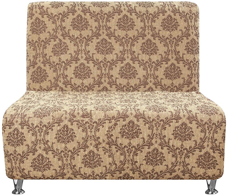 Чехол на кресло без подлокотников Еврочехол Мадрид, 1/601-5, шоколадный, ширина 110 см