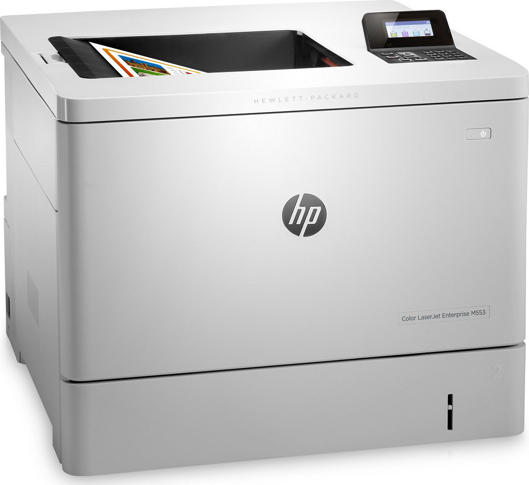 Принтер лазерный HP Color LaserJet Enterprise M552dn, B5L23A, белый
