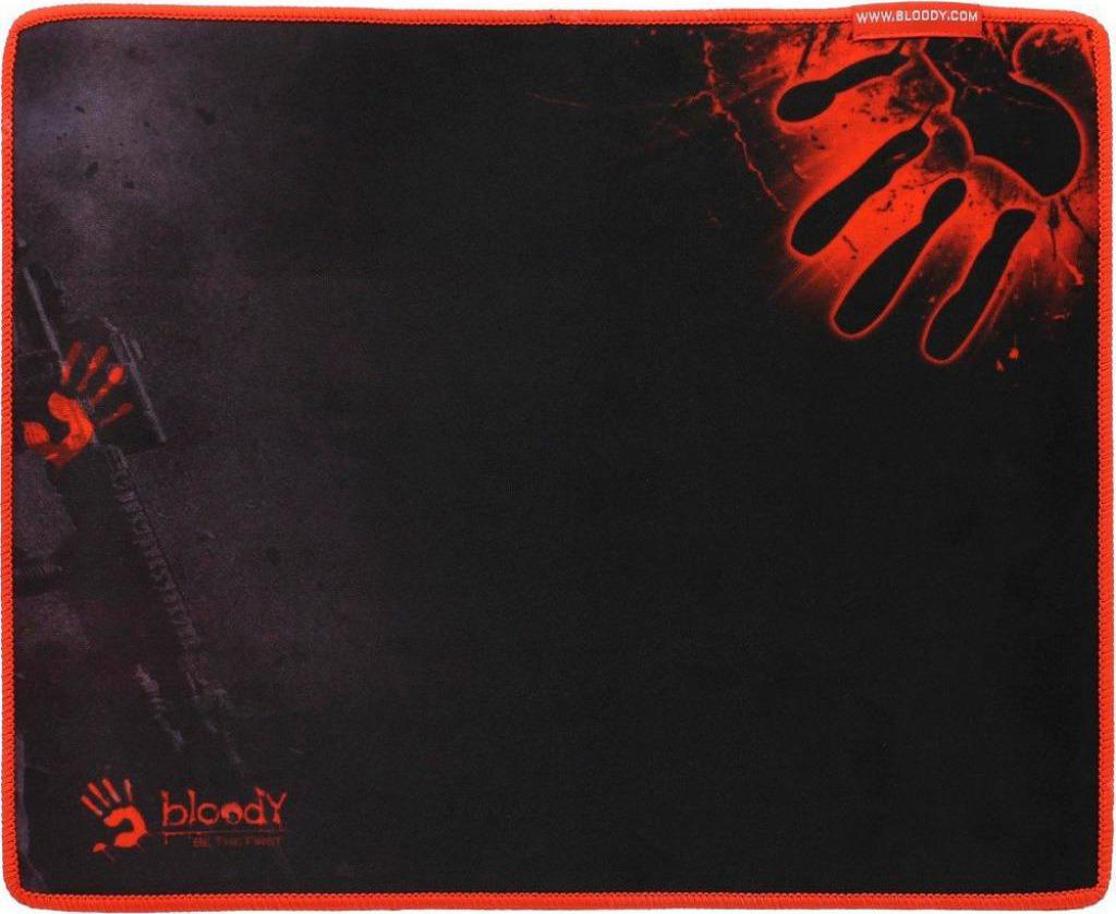 Игровой коврик для мыши A4Tech Bloody B-081S, черный, красный мышь a4tech bloody q81 коврик b 081s