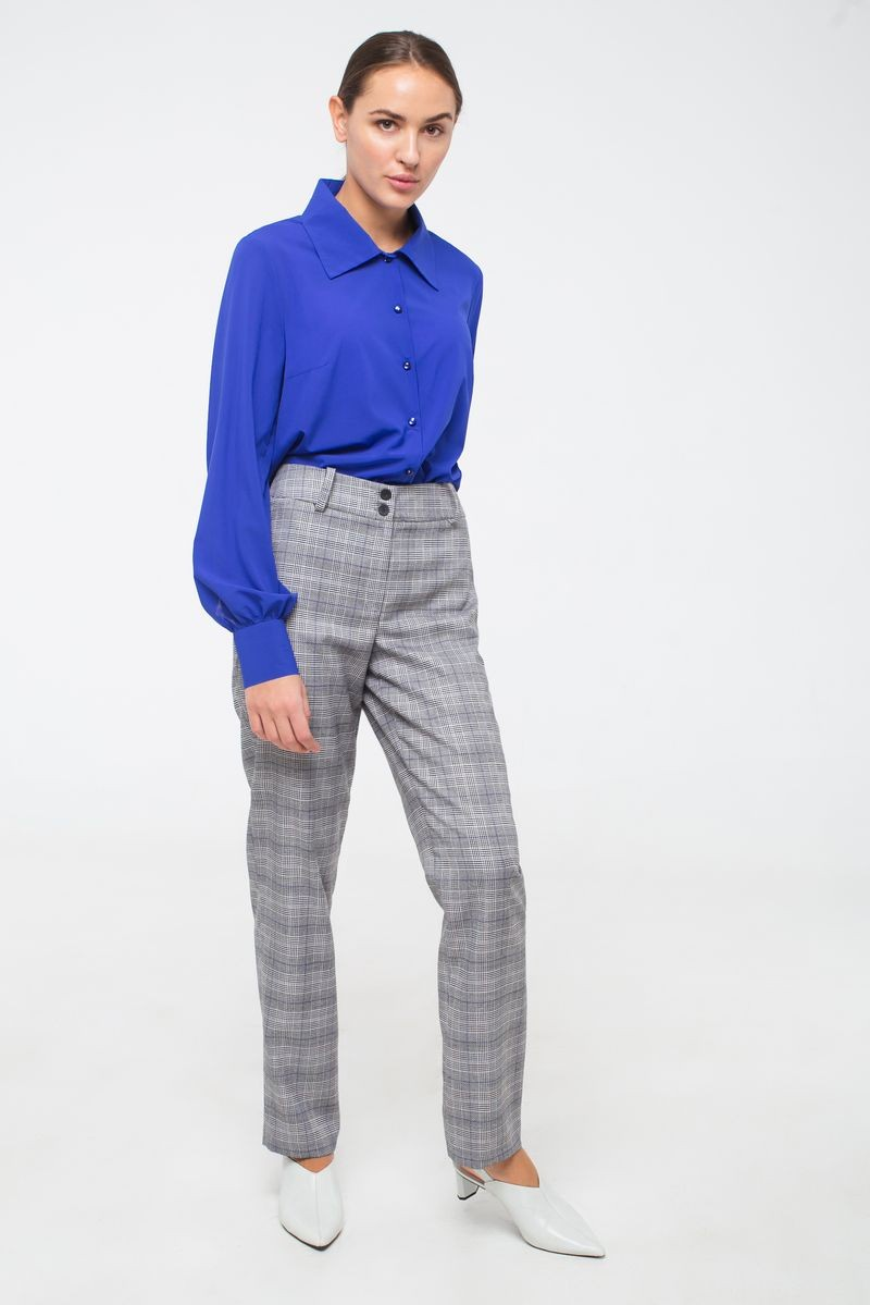 брюки серого цвета mek ут 00008880 Брюки Модный дом Виктории Тишиной