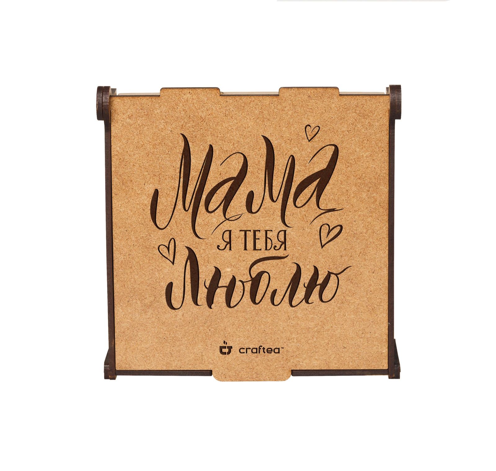 Подарочный чайный набор CrafTea Мама, я люблю тебя, в деревянной шкатулке подарочный чайный набор craftea honey