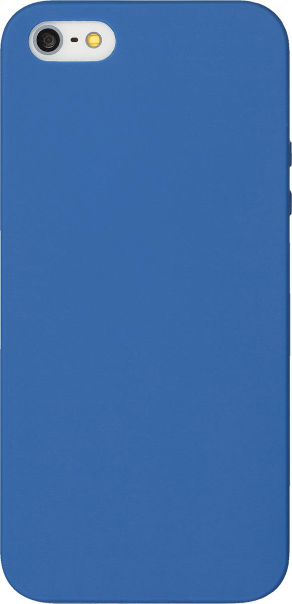 Чехол AnyCase для Apple iPhone 5/5S/SE, матовый, синий чехол touchetta 70victory для iphone 5s se он сражался за свободу