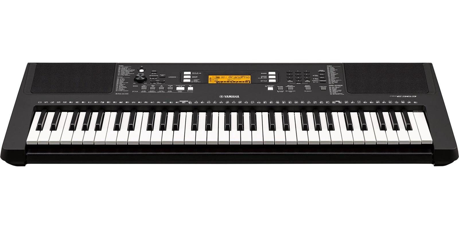 Цифровой синтезатор YAMAHA PSR-E363, черный синтезатор yamaha psr s775