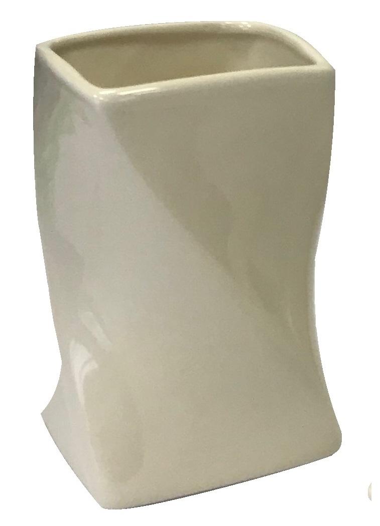 Стакан для ванной комнаты Vanstore 389-01, кремовый стакан для ванной комнаты vanstore wiki бирюзовый