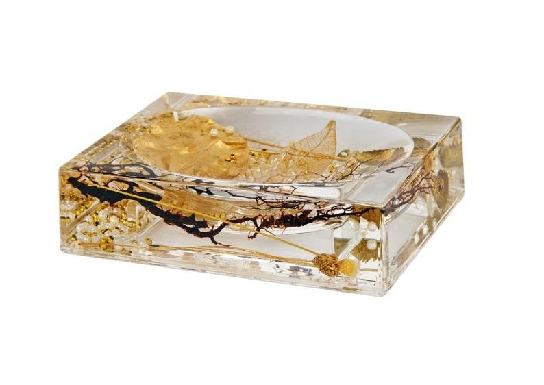 Мыльница Vanstore 384-04, золотой мыльница vanstore корона